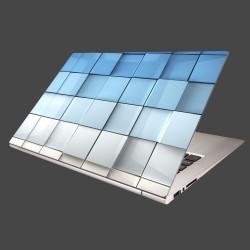 Nálepka na notebook - Modré kocky