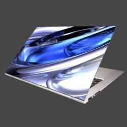 Nálepka na notebook - Modré kruhy