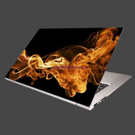 Nálepka na notebook - Oheň a dym