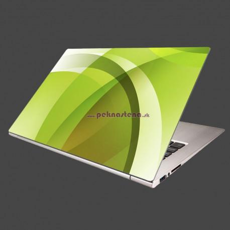 Nálepka na notebook - Zelená abstrakcia