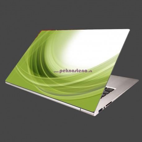 Nálepka na notebook - Zelený polkruh