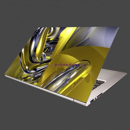 Nálepka na notebook - Žltá abstrakcia