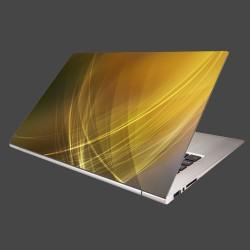 Nálepka na notebook - Žlto-oranžová abstrakcia
