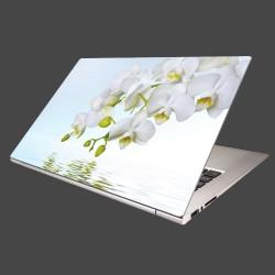 Nálepka na notebook - Biela orchidea nad hladinou