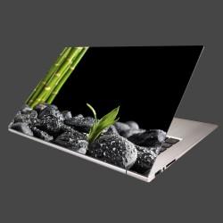 Nálepka na notebook - Čierne kamene a bambus