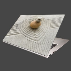 Nálepka na notebook - Kamene a piesok