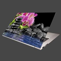 Nálepka na notebook - Kamene s kvetom