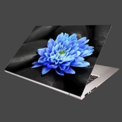 Nálepka na notebook - Modrý kvet na kameňoch