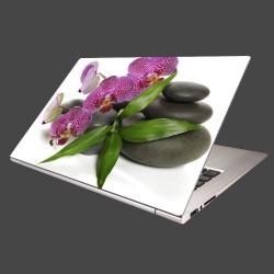 Nálepka na notebook - Orchidea na kameňoch