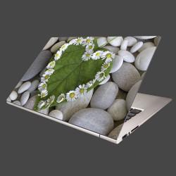 Nálepka na notebook - Srdce z kvetov