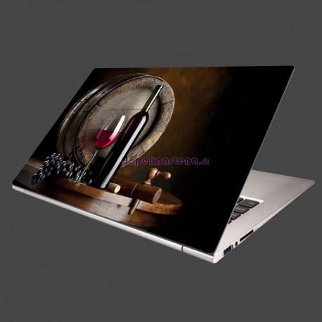 Nálepka na notebook - Fľaša červeného vína