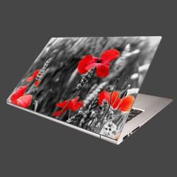Nálepka na notebook - Červené vlčie maky