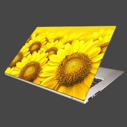 Nálepka na notebook - Lúka slnečníc
