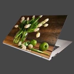 Nálepka na notebook - Tulipány vo váze