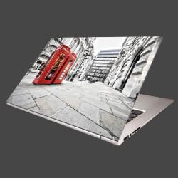Nálepka na notebook - Červené telefónne búdky