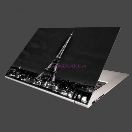 Nálepka na notebook - Čiernobiela Eifelovka