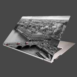 Nálepka na notebook - Čiernobiely Londýn