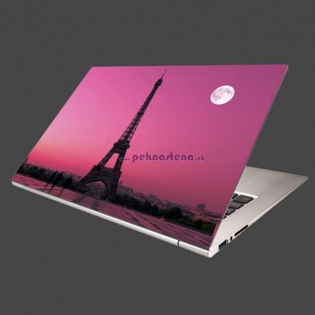 Nálepka na notebook - Mesiac nad Eifelovkou