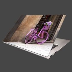 Nálepka na notebook - Ružový bicykel