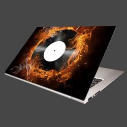 Nálepka na notebook - Platňa v plameňoch