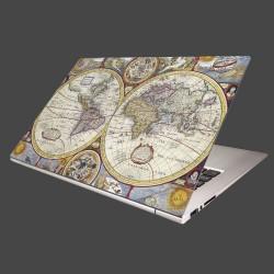 Nálepka na notebook - Stará mapa sveta