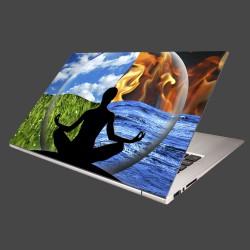 Nálepka na notebook - Štyri živly