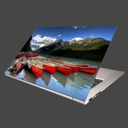 Nálepka na notebook - Kánoe na jazere