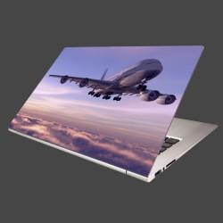 Nálepka na notebook - Lietadlo v oblakoch
