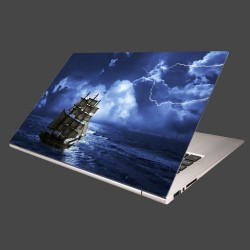 Nálepka na notebook - Búrka na mori