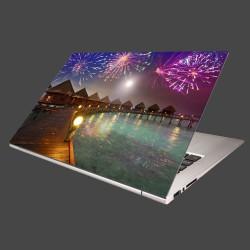 Nálepka na notebook - Oslavy na ostrove