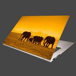 Nálepka na notebook - Slonia rodinka
