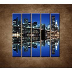 Obrazy na stenu - Brooklyn - 5dielny 100x100cm
