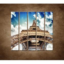 Obrazy na stenu - Eifelova veža zdola - 5dielny 100x100cm