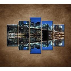 Obrazy na stenu - Brooklyn - 5dielny 150x100cm