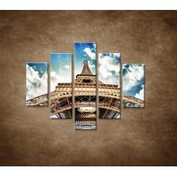 Obrazy na stenu - Eifelova veža zdola - 5dielny 100x80cm