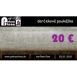 Darčeková poukážka 20 eur