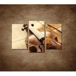 Obrazy na stenu - Husle a slák - 3dielny 75x50cm