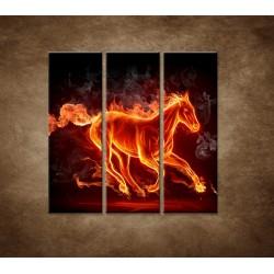 Obrazy na stenu - Horiaci kôň - 3dielny 90x90cm