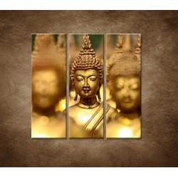 Obrazy na stenu - Socha budhu - 3dielny 90x90cm