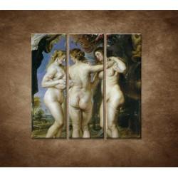 Obrazy na stenu - Reproduckia - Rubens - Tri grácie - 3dielny 90x90cm