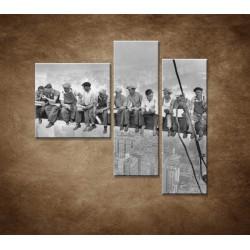 Obrazy na stenu - Robotníci na traverze - 3dielny 110x90cm