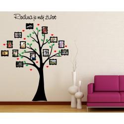 Nálepka na stenu - Rodokmeň - strom s fotkami 9x13cm