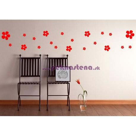 Veselé kvety - jednofarebné - set 21 kusov
