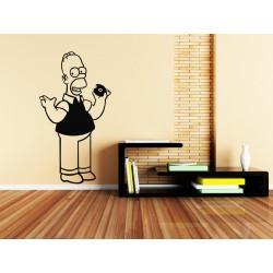 Nálepka na stenu - Homer Simpson