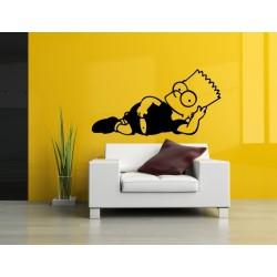 Nálepka na stenu - Bart Simpson