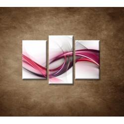 Obrazy na stenu - Ružová vlna - 3dielny 75x50cm