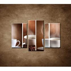 Obrazy na stenu - Šálka kávy - 3dielny 75x50cm
