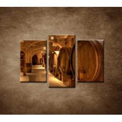 Obrazy na stenu - Vinárska pivnica - 3dielny 75x50cm