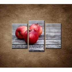 Obrazy na stenu - Červené jablká - 3dielny 75x50cm
