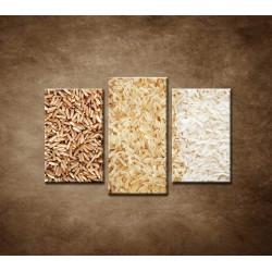 Obrazy na stenu - Tri druhy ryže - 3dielny 75x50cm